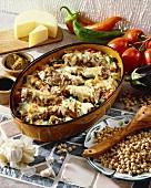 Lamb, chick-pea and bulgur bake (Turkey)