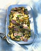 Marinierte Rotbarbenfilet mit Zucchini