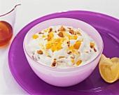 Ricotta cream with peaches