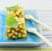 Apple jelly with mint