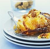 Baguetteauflauf mit Ricotta und Aprikosen