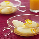Quark dumplings in apricot sauce