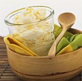 Lemon cream made with mascarpone and limoncello