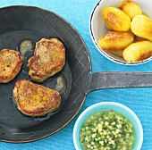 Pork medallions with apple and caper vinaigrette