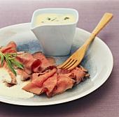 Roastbeef mit Sauce Bearnaise