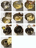 Making gugelhupf: making the mixture & putting into the tin