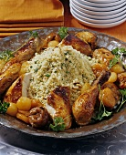 Couscous with chicken and dried fruit