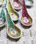 Several Chinese spoons