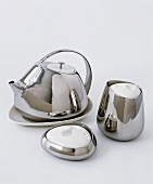Stainless steel tea service