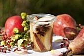 Pears in rum