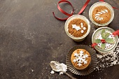 Spiced Christmas cake baked in glasses