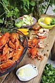 Ingredients for crayfish salad