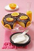 Orangenkuchen mit Schokoladen-Ganache