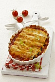 Cannelloni au gratin with a spinach and sheep's cheese filling
