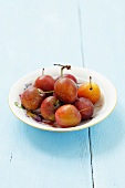 A plate of Ruth Gerstetter plums