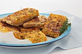 Carrot tray-bake quiche