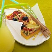 Polenta-vegetable gratin