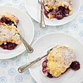 Rice bake with morello cherries