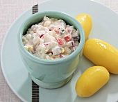 Egg salad with tomatoes and quark