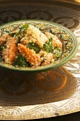 Couscous salad with pawpaw