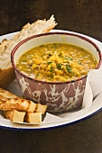 Lentil and pearl barley soup