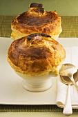 Mushroom pies in soup tureens