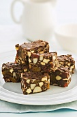 Chocolate and dried fruit slices