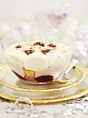 Raspberry trifle for Christmas dinner
