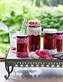 Strawberry jam with whole fruit