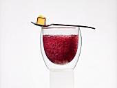 Sparkling sangria-melon (molecular gastronomy)