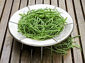 A plate of glasswort