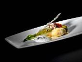 Calamaretti mit Ciabatta-Füllung und Romana-Salat