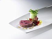 Rocket mousseline with Wagyu beef