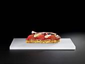 Candied rhubarb with panetone