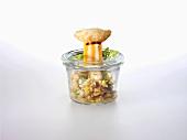 Spelt salad with hokkaido pumpkin and muscovado sugar