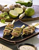 Chicken saté kebabs