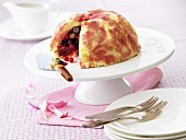 Summer pudding filled with berries