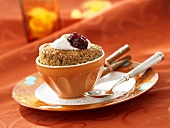 Nut and coffee souffle