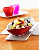 Fruit salad with syrup