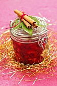 Cranberry and apple jam as a Christmas present