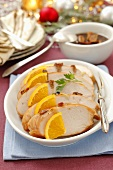 Turkey breast with oranges for Christmas dinner