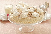 Meringue tarts with a coffee mascarpone cream for Christmas