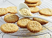 Peanut butter cookies with sesame