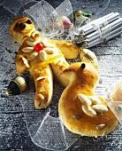 Yeast dough Christmas figures