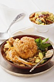 Oriental curried chicken with couscous