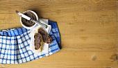 Venison liver pate on a baguette