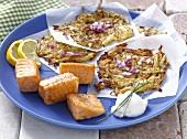 Salmon fillet with potato cakes
