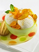 Orange ice cream in Cointreau