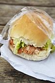 Crab sandwich to take away