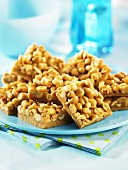 Butterscotch slices with peanuts